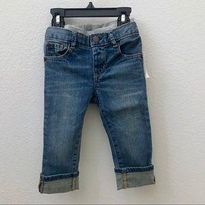 NEW Baby GAP boy pull-on slim jeans